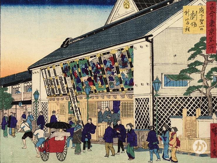 明治の歌舞伎の興行風景