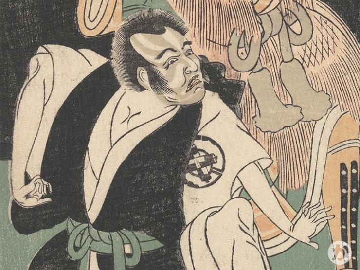 成駒屋の定紋をつけた中村歌右衛門