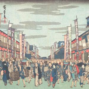 歌舞伎の劇場前風景